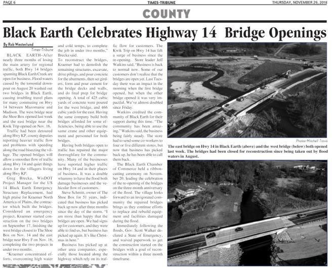 black earth bridges open 2