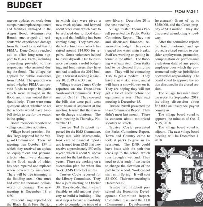 dec 6 2018 village budget black earth 2